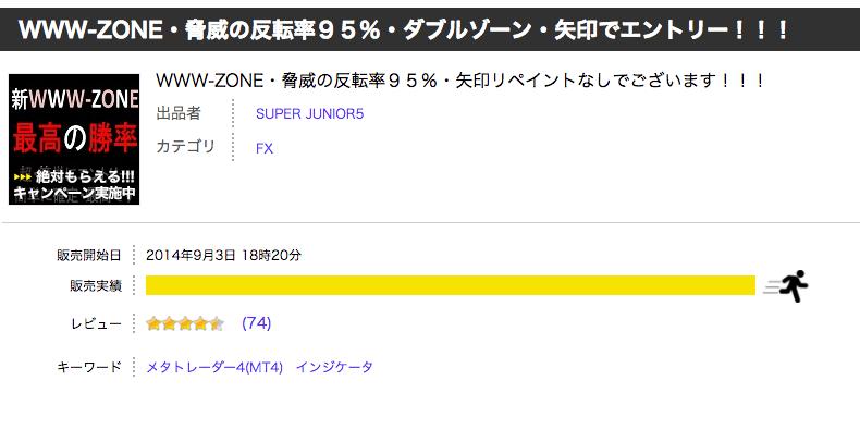 WWW-ZONE・脅威の反転率95%・ダブルゾーン・矢印でエントリー!!!