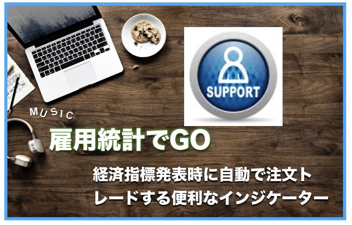 雇用統計でGO〜経済指標発表時に自動でトレードしてくれるインジケーター